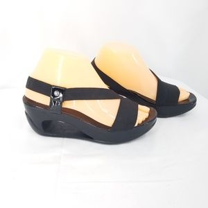 Calvin Klein Hollow Wedge Heel Black Sandals 7M